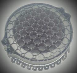 Cross-section of infill black ASA