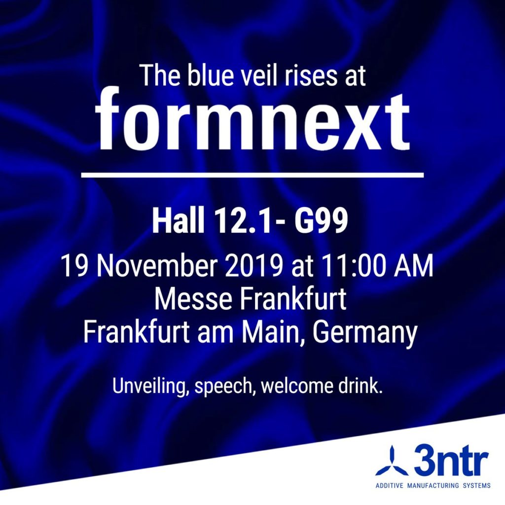 At Formnext 2019, 3ntr will unveil a new PEEK solution for 3D printing