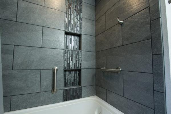 2020 bathroom trends: large shower tiles