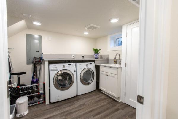dark laundry room floors