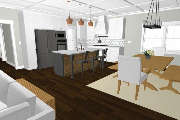 portland kitchen remodel rendering