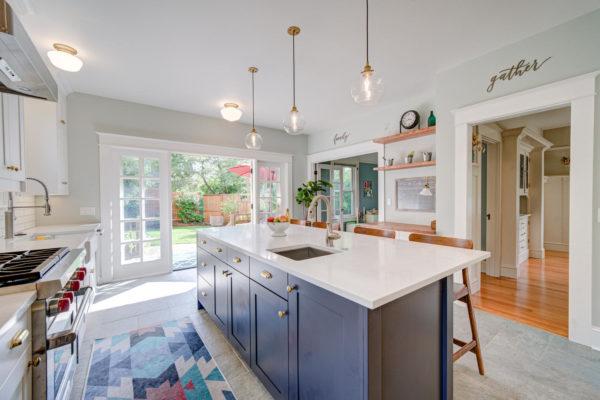 Kitchen Remodel with quartz countertops