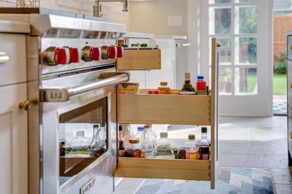 pull out kitchen drawer divider