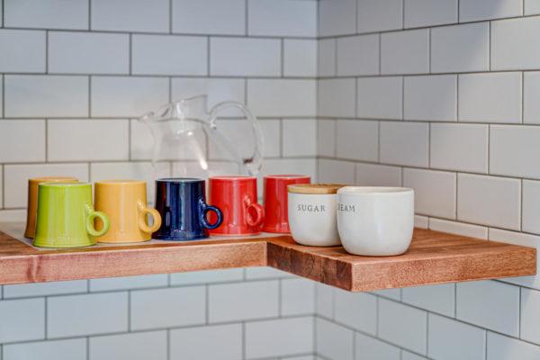 coffee mugs in kitchen