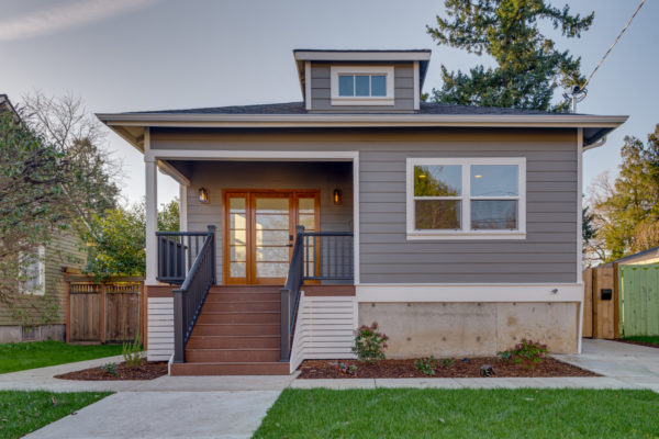 portland fir program - gray home exterior