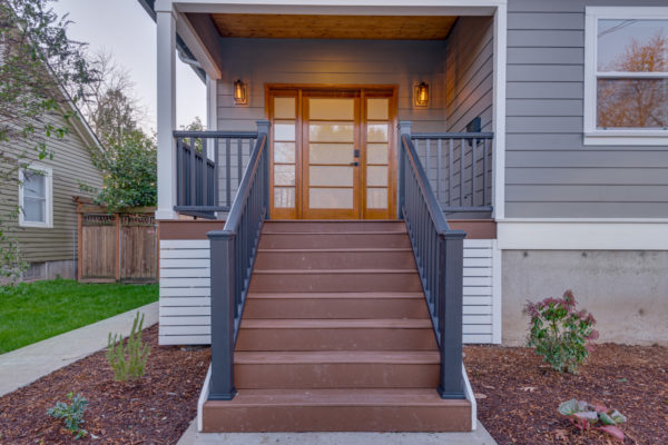 modern entryway ideas: front stairs