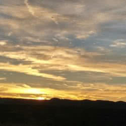 Scenic sunrise sky