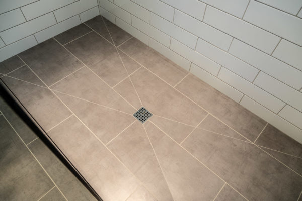 zero clearance shower pan