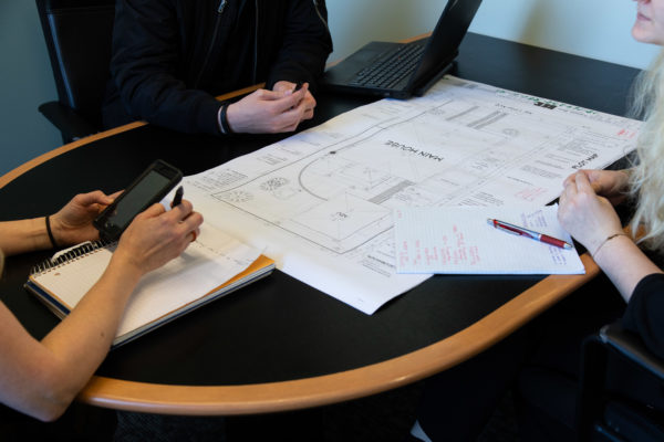 design/build process: home remodel concept meeting