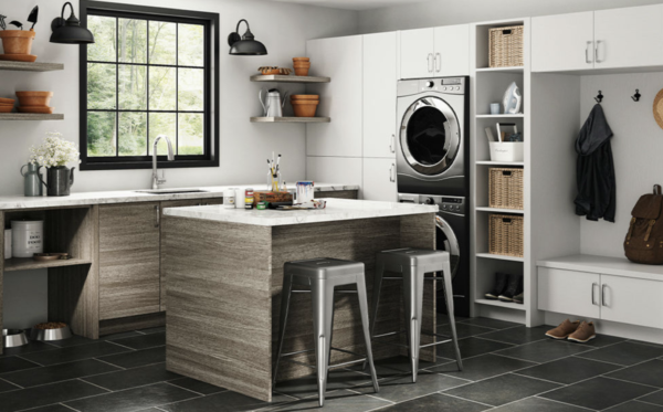 2020 remodel trends: faux kitchen gray cabinets
