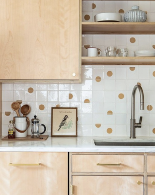 playful kitchen backsplash