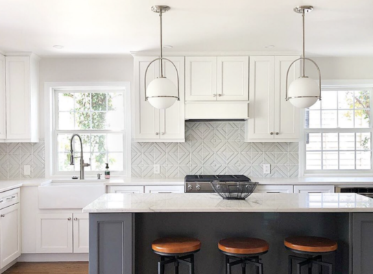 modern kitchen backsplash ideas: raised pattern
