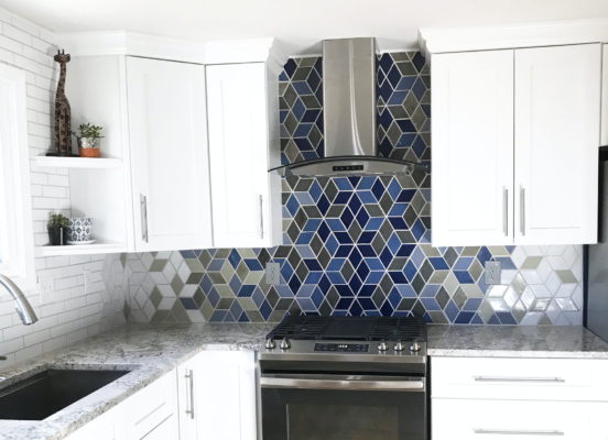 modern kitchen backsplash ideas: different tile materials