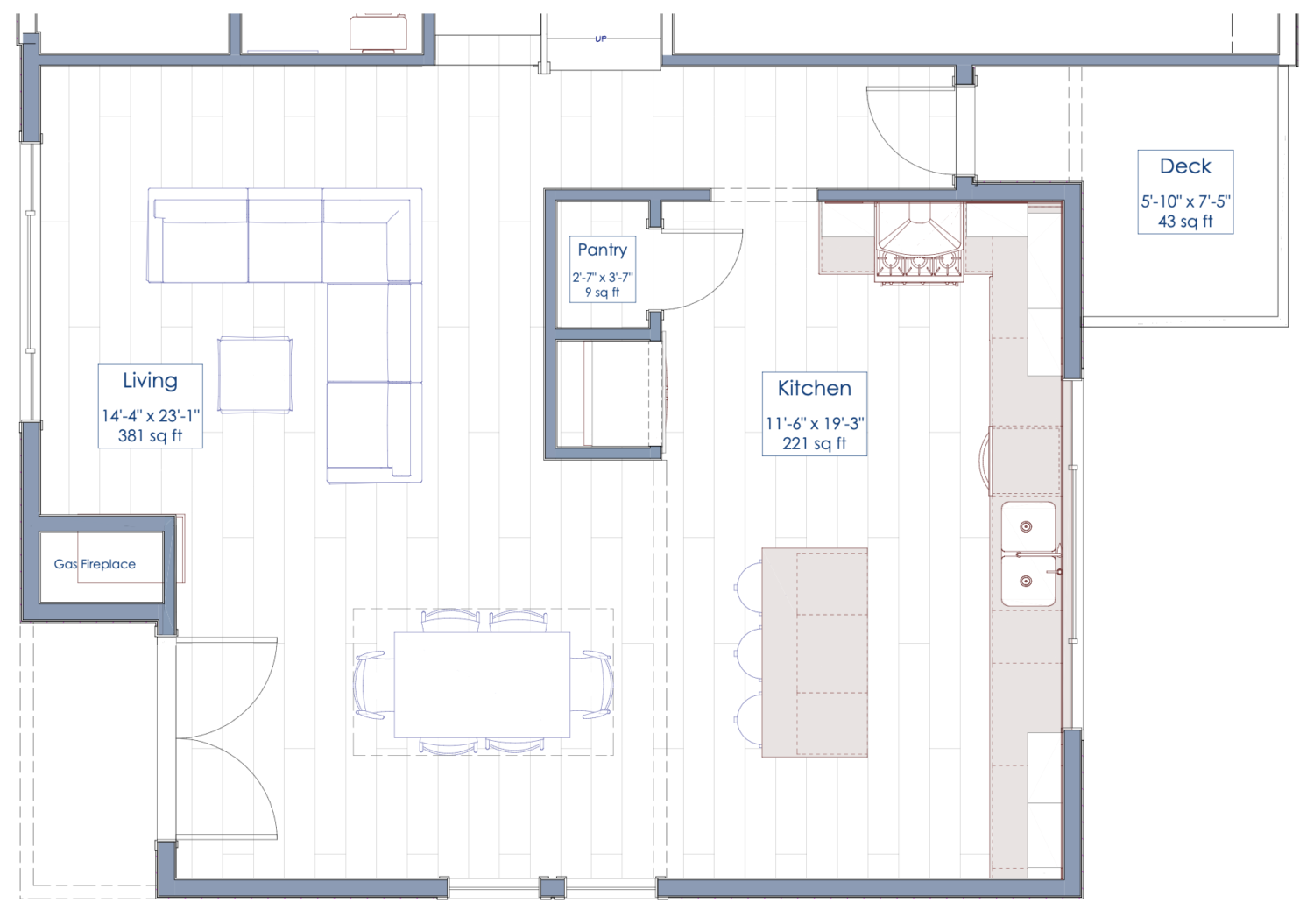 kitchen remodel floorplan