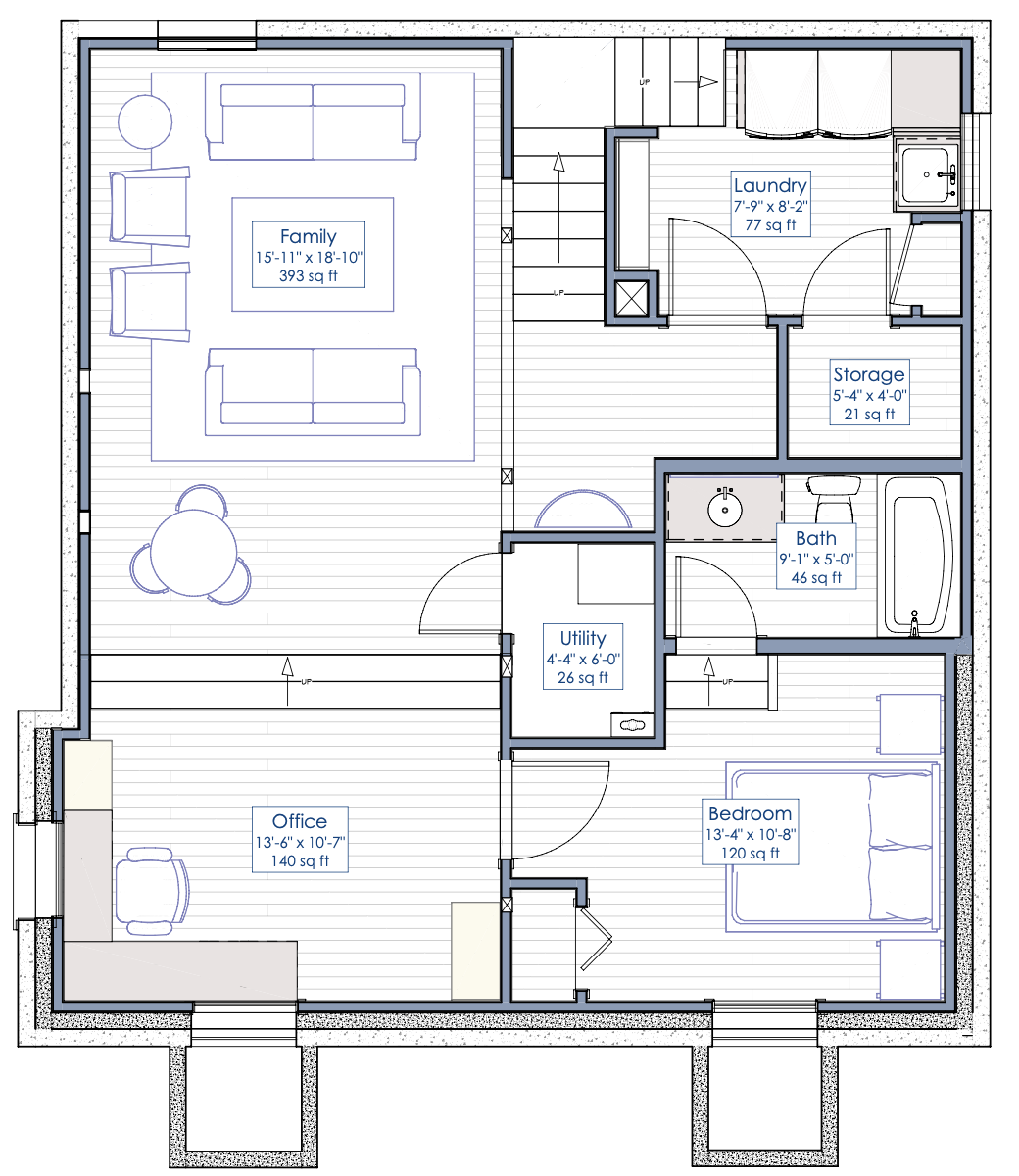 basement remodel floorplan
