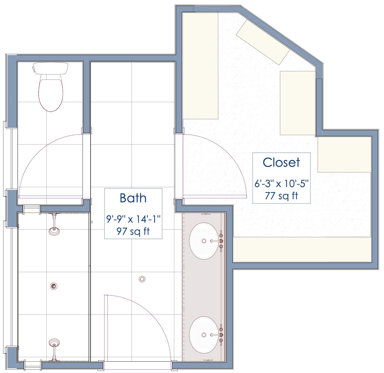 bathroom remodel floorplan