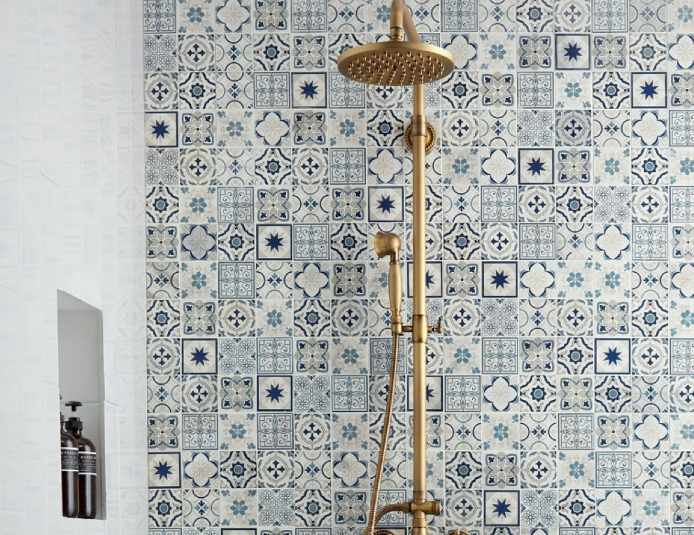tile trends: bold colors and patterns