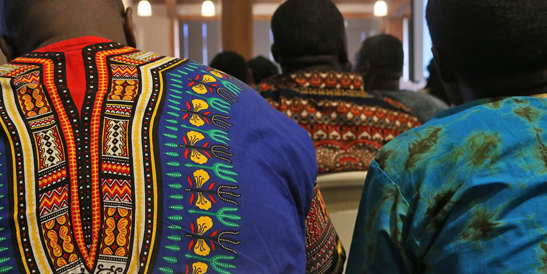 The Keystone Project students in traditional garments