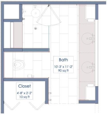bathroom floorplan
