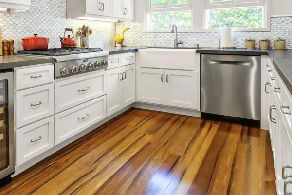 kitchen flooring options: bamboo flooring
