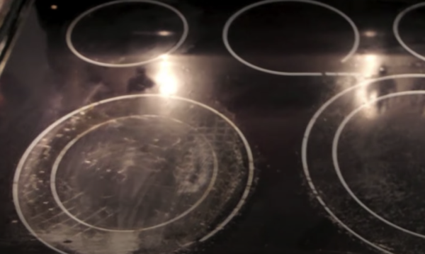 cloudy rings on glass cooktop