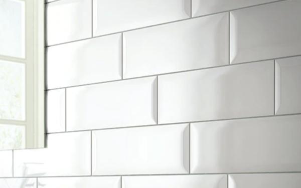 subway tile design ideas: beveled egde
