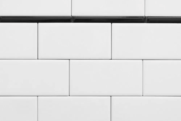 subway tile squared off edge