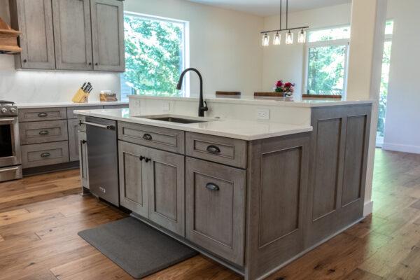 grey kitchen cabinets