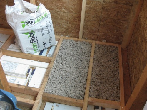 sustainable home building: cellulose insulation