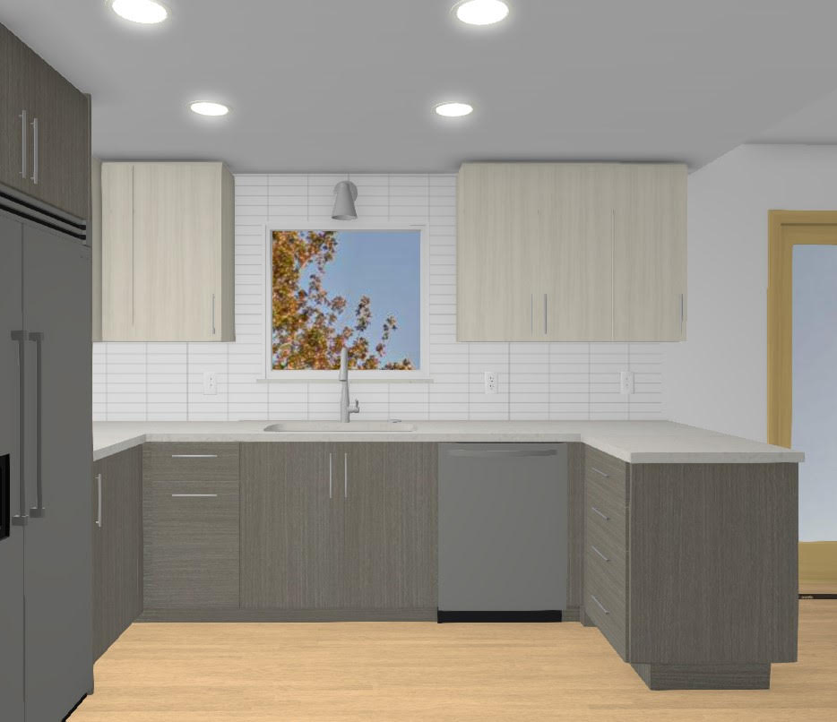 average cost of kitchen cabinets: kitchen rendering