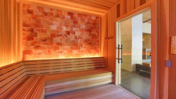 home sauna: salt wall panels