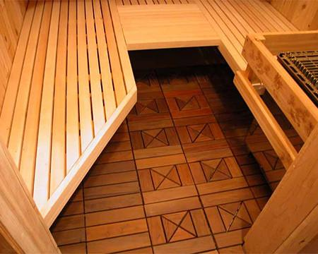 home sauna: sauna floor
