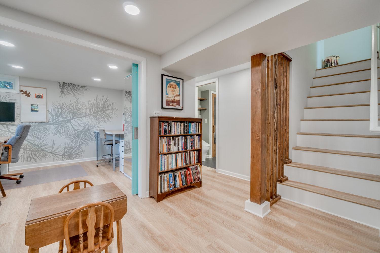 building a home office: basement