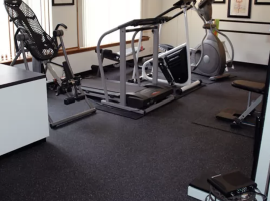 home gym ideas: rubber flooring