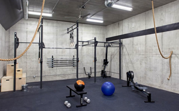 home gym ideas: industrial look