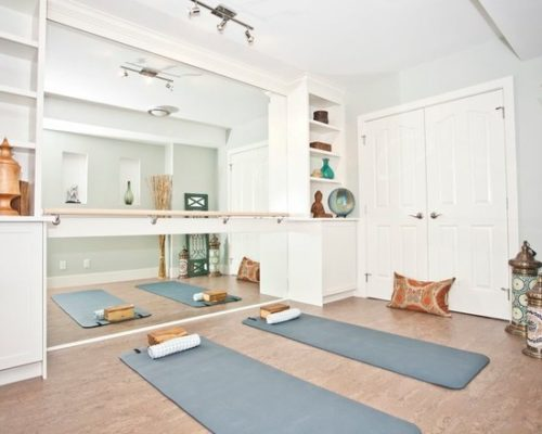 home gym ideas: yoga room