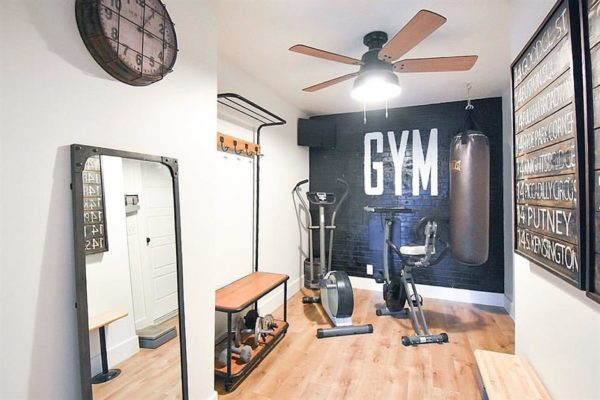 home gym ideas: creative artwork