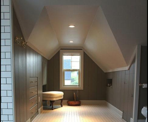 attic remodel recessed lighting
