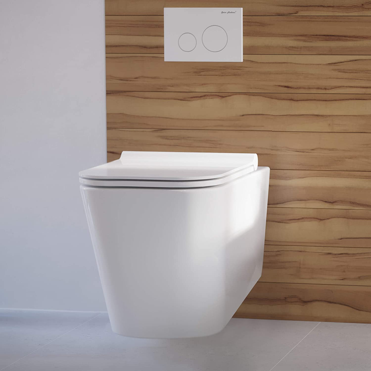 toilet types: wall hung toilet