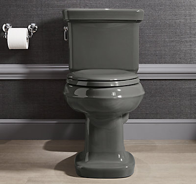 toilet types: gray toilet
