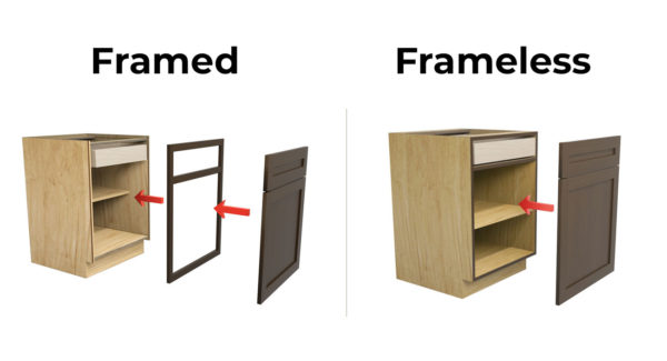 framed vs frameless cabinets