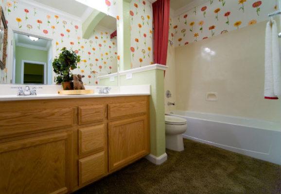 bathroom remodel mistakes: carpet in bathroom