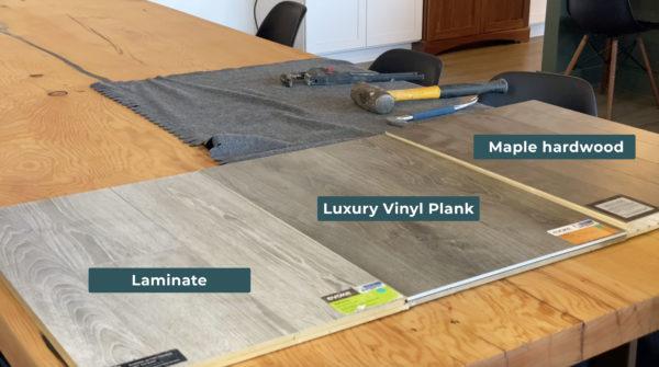 scratch resistant flooring: hardwood, luxury vinyl plank, laminate