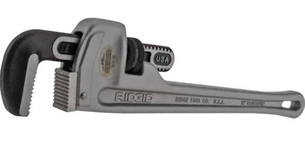 Scratch resistant flooring test - pipe wrench