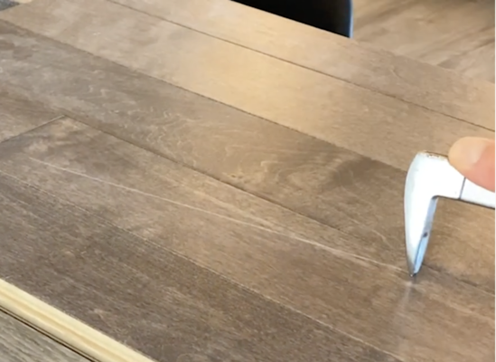 scratch resistant flooring test - Cat's Paw scratch test on maple hardwood