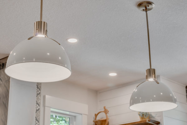 kitchen remodel projects: bold pendant lights
