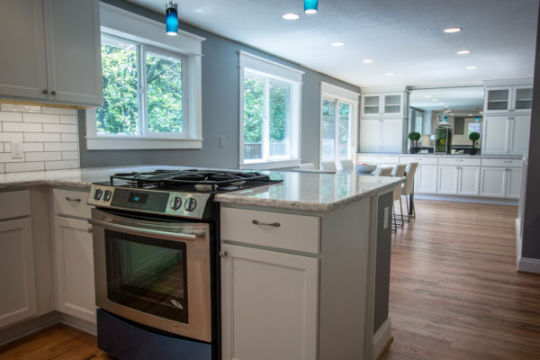 kitchen remodel projects: gray paint