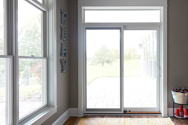 bifold vs sliding doors: white sliding door