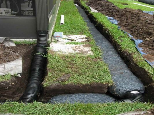 home drainage: french drain