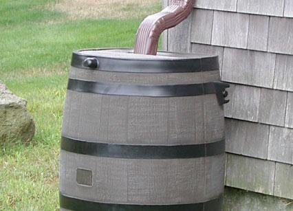 home drainage: rain barrel